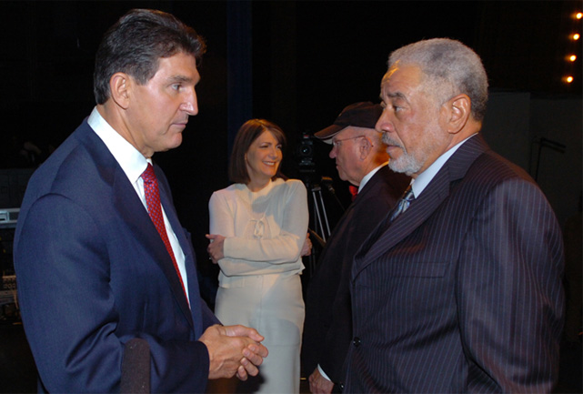 Joe Manchin with Bill Withers